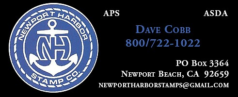 Newport Harbor Stamp Co. (David Cobb; no website)