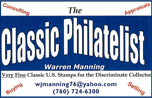 The Classic Philatelist - Very Fine Classic US Stamps (Warren Manning; no website)