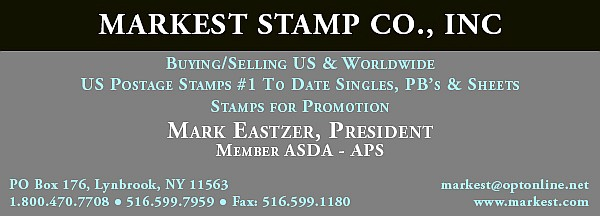 Markest Stamp Co. - Buying/Selling US and Worldwide (Mark Eastzer)