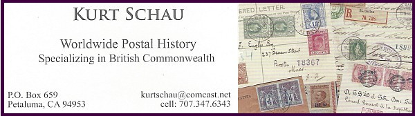 Kurt Schau - Worldwide Postal History, Specializing in British Commonwealth (no website)