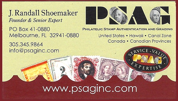 PSAG - Philatelic Stamp Authentication and Grading (J. Randall Shoemaker)