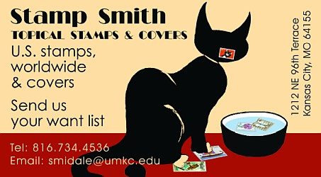 Stamp Smith - Topical Stamps and Covers (please call - no website available)
