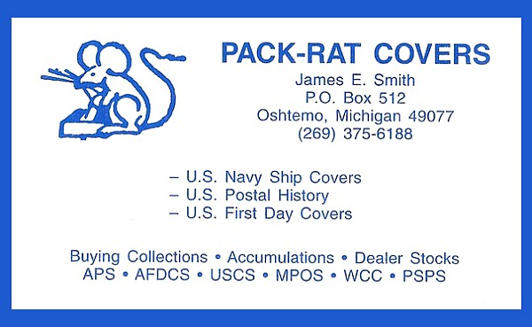 Pack-Rat Covers - Buy Collections, Accumulations and Dealer Stocks (James E. Smith; no website)